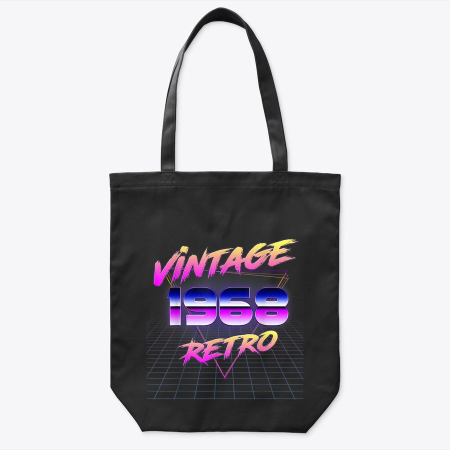 Vintage 1968 Tote Bag Retro 80'S Style 52Th Birthday Gift Tote Bag