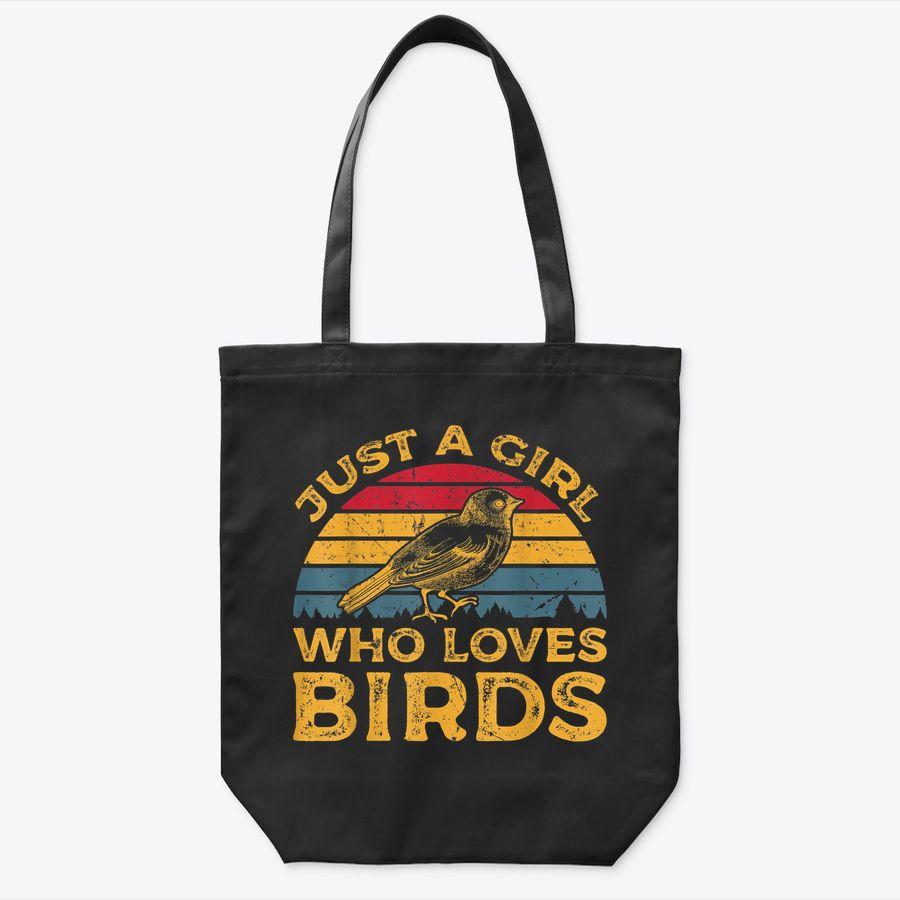 Vintage Just A Girl Who Loves Birds Tote Bag