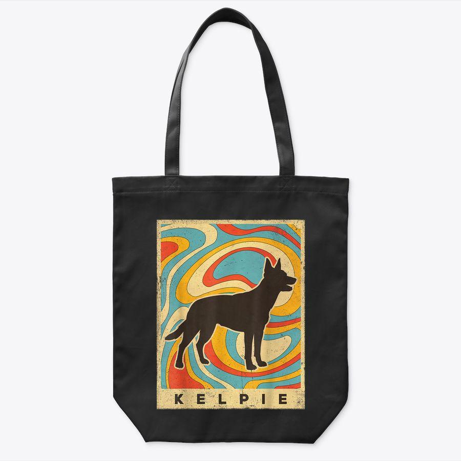 Kelpie Dog Retro Vintage Gift Tote Bag