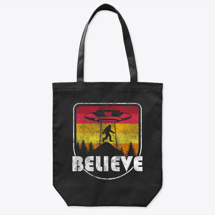Bigfoot Alien Ufo Mountain Retro Mountain Camper Hiking Gift Tote Bag